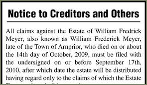 How long may a creditor assert a claim after someone dies notice to creditors spiritdancerdesigns